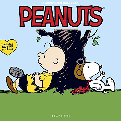 Graphique Peanuts Happiness Is Wall Calendar - 16-Month 2021 Calendar, 12'x12' w/ 3 Languages, 4-Month Preview, & Marked Holidays, CY17321