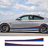 DBBXYQ 2 uds Pegatinas de Rayas Laterales largas para Coche, Accesorios para Coche, para BMW E46 X5 X4 F20 F30 F10 E53 E90 E60 E39 E36 E87 E30 E92 E91