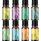 100% Pure Essential Oils Set - Aromatherapy Essential Oils for Diffuser for Home Travel and Natural Essential Oils for Hair Skin and Nails - Oil Diffuser Essential Oils for Humidifiers and Self Care