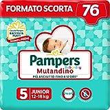 Pampers Baby Dry Mutandino Junior, 76 Pannolini, Taglia 5 (12-18 Kg)
