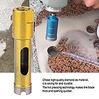 厚いダイヤモンドドリルビット、ダイヤモンドドリルビットツール、大理石ビトリファイドタイルストーン用タイル(Sintered Angle Grinder Hole Opener 14mm)