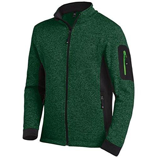 FHB Strickfleece Jacke atmungsaktiv, Größe:XXXL, Farbe:grün