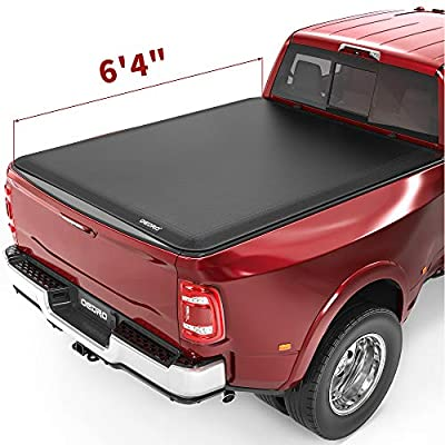 oEdRo Roll Up Truck Bed Tonneau Cover Compatible with 2002-2018 Dodge Ram 1500 19-21 1500 Classic; 2003-2020 Dodge Ram 2500 3500, Fleetside, 6.4 Feet Bed
