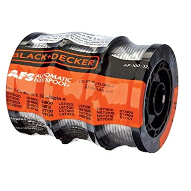 Black and Decker AF-100-3ZP 30ft 0.065  Line String Trimmer Replacement Spool, 3-Pack