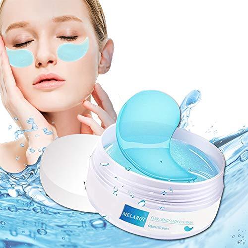 Eye Mask, Augenpads, Anti Aging Pads, Augenpflege mit Hyaluron & Kollagen, Maske-eye pads für Feuchtigkeit Spendende, Entfernen Augenringe, Falten, Feine Linien, tränensäcke, Puffiness, 60pcs