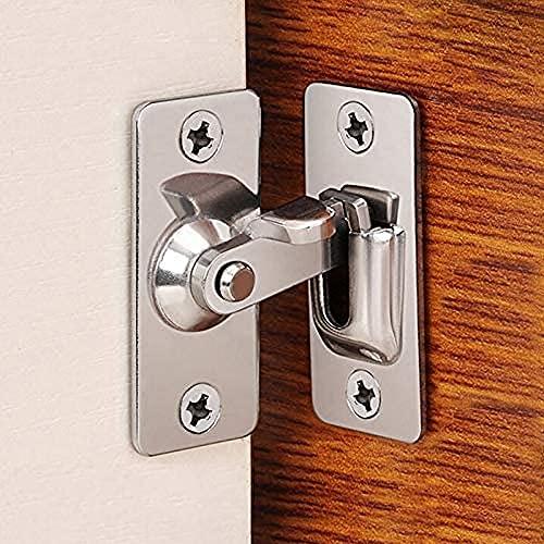 90 Degree Right Angle Door Lock Buckle Lock Bolt Lock cam Lock for Door and Window Sliding Lock bar Bolt barn Sliding Door Lock Sliding Latch