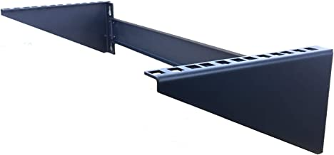 Mofangtech 4U New Folding 19 Inches Cold Rolled Steel Wall Mountable Simple Vertical Rack and Networking Euipment Rack Including Hardware for Assembly