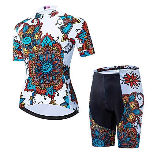 WPW Conjunto de Maillot de Ciclismo, Camisetas de Manga Corta para Mujer...