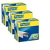 Rapid 24860100 - Confezione da 5.000 punti per pinzatrice in acciaio inox, dimensioni: 24/8+ mm, 24/6, 1
