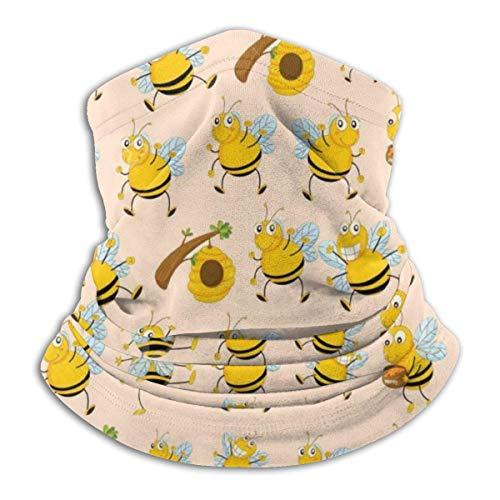 JKHHW Fleece Nackenwärmer Gamasche Hart arbeitende Biene Weiche Mikrofaser Kopfbedeckung Gesicht Schal Maske Für Winter Kaltes Wetter &Warmhalten Für Herren Damen