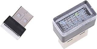 MERIGLARE 2x USB LED Sem Fio para Decoração Do Kit de Luz Interna Do Carro