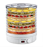 Concept Elettrodomestici SO1020 Essiccatore per Frutta, 9 Scomparti, 245 W, 46 Decibel, Plastic, Bianco