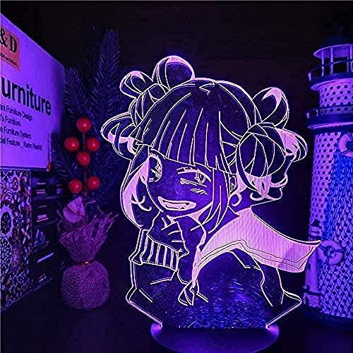 Luces de noche LED My hero anime7 colores cambiar fiesta caja de batería USB suministro de luz regalo decoración de habitación mesita de noche hogar acrílico dormitorio bebé-16 color remote control