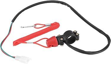 Keenso Switch Stop Bouton dArr/êt dUrgence Ferm/é Universal Coupe-circuit pour Tondeuse /à gazon Moteurs Hors-bord avec Cordon dAttache Interrupteur dArr/êt et de S/écurit/é