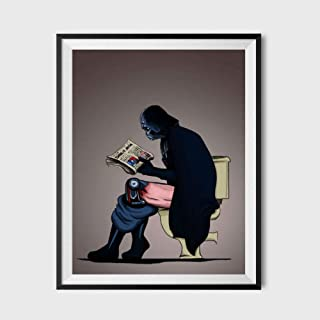 """SUATMM Star Wars Darth Vader on The Toilet Parody Poster 11""""x17"""""""
