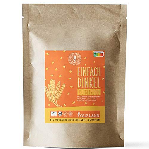 Getreidemühle Mockmill 100 | Made in Germany | Edelkorund und Keramik Mahlstein (Mockmill 100 + Bio Roggen)…