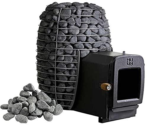 Huum Hive Heat 12 LS - Horno para sauna (equivalente a 2.Bimschv) y piedras de 60 kg