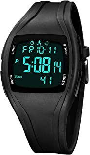 AMOOTEK Pedometer Watch, Digital Sport Watch Pedometer Fitness Tracker Waterproof Electronic Step Counter Watches for Walk...