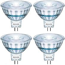 Philips LED 470278 50 Watt Equivalent Classic Glass MR16 Dimmable LED Indoor & Landscape Flood Light Bulb (4 Pack), 4-Pack...