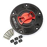 HWH Motocicleta Combustible G.A.S Tapa de Tanque Cap CNC Accesorios de Aluminio para du.ca.ti Panigale 899 959 1199 R/S/R FE V4 V4S V4R ESPECIALLE V2 Durable (Color : Red)