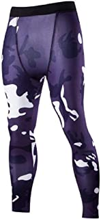 RkBaoye Men's Sexy Yoga Fitness Elastic Breathable Camo Sport Tight Pants