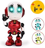 TTOUADY Talking Robots for Kids, Mini Robot Toys That Repeats What You Say and Help Toddlers Talking, Toys for Age 3+ Boys and Girls Gift (Red)
