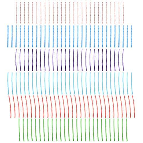 Scicalife 6 Paquetes de Bolsas de Dulces Bolsas de Paquetes de Piruletas Tratar Lazos de Alambre de Alambre Metálico Colorido para Piruletas Dulces Chocolates Y Galletas Bolsa de Sellado