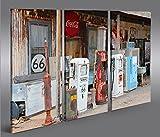 islandburner Bild Bilder auf Leinwand US Tankstelle Route