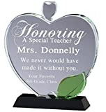 Crystal Apple Award with Free Engraving