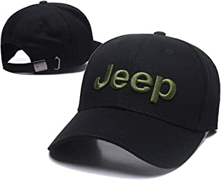 Car Logo Adjustable Baseball Cap, Unisex Hat Travel Cap Car Racing Motor Hat for Jeep - Black