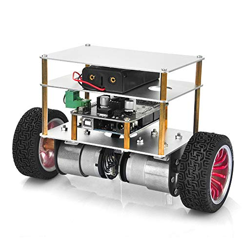 OSOYOO RC Two Wheel Self Balancing Robot Car Kit for UNO R3 DIY Educational Programmable Starter Kit, Bluetooth Remote Control by Android Smart Phone