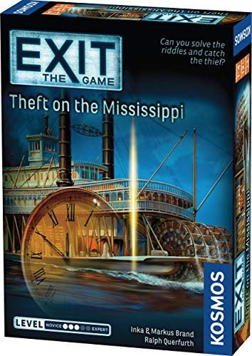 EXIT: Theft on The Mississippi | Escape Room Game in a Box| EXIT: The Game – A Kosmos Game | Family – Friendly, Card-Based at-Home Escape Room Experience for 1 to 4 Players, Ages 12+