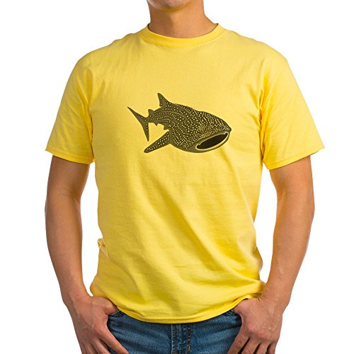 CafePress Whale Shark Diver Diving Scuba Light T Shirt 100% Cotton T-Shirt Yellow