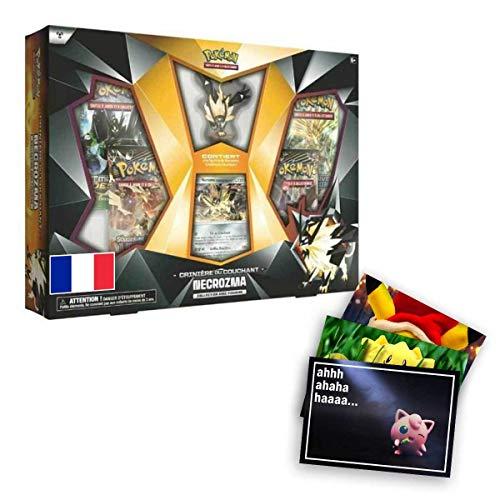 Lively Moments Pokemon Karten Crinière du Couchant Necrozma Collection Avec Figurine (Abendmähne-Necrozma Figuren Kollektion) FR und Exklusive GRATIS Grußkarte