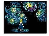 ARYAGO Vincent Van Gogh Sternennacht Gemälde Drucke Modern 91,4 x 61 cm Alice im Wunderland Kunstdrucke, Heimdekoration, ungerahmt / gerahmt