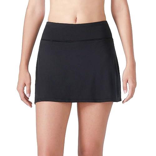 4048b666b Women's Casual Pleated Golf Skirt with Underneath Shorts Running Tennis  Skorts
