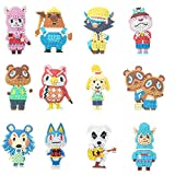GUHAR 5D Diamond Painting Stickers Kits, 12 PCS DIY Animal Crossing Cartoon Theme Stick Paint with Diamonds by Numbers Kit Mosaic Stickers