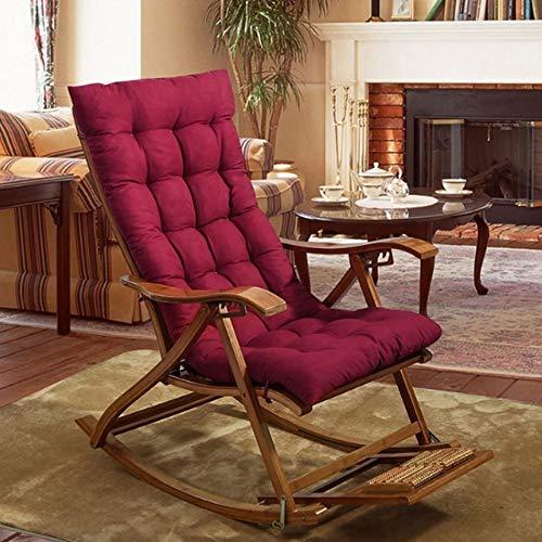 YMYG Solide Couleur Coussins De Canapé Inclinable Universel Rocking Chair Tapis Doux Coussins Oreiller for Chaise Tatami Tapis de Soleil Lounger Coussin Pad (Color : Burgundy)