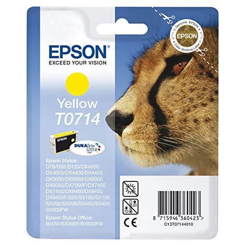 Ink cartridge Original Epson 1x Yellow C13T07144010 / T0714 for Epson Stylus DX 4050