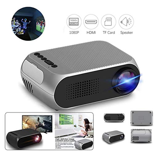 CHARGER DOCK Mini beamer/LED Pico Projector HD 1080p ondersteuning video opstapondersteuning home bioscoop voor games film compatibel PC TV Dvd iPhone iPad USB TF AV HDMI