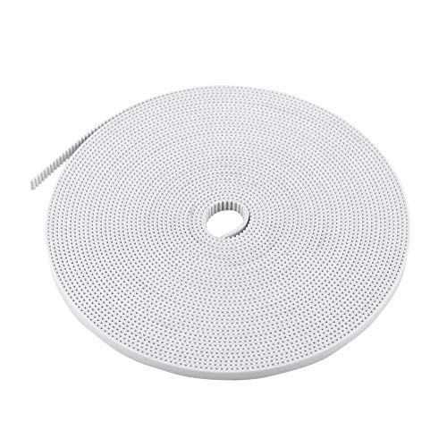 10m Open Timing Belt White 3d Printing Belts 2mm Pitch 6mm Width Steel Core Cogged Belt for 3d Printers Intelligent Plotter