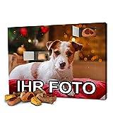 printplanet - Hunde-Adventskalender mit eigenem Foto personalisiert - mit Hunde Leckerlis gefüllt - Weihnachtskalender für Hunde - 2019