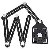 Strumento di misurazione angolare facile in metallo in lega di alluminio multi funzionale antigraffio in metallo pieno per costruttori, strumento modello angolatore