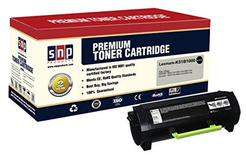 SNP Compatible Toner Cartridge Lexmark 51B1H00, 1Black Lexmark 51B1H00. Compatible with-Lexmark MS417dn MX417de MS517dn MX517de MS617dn MX617de