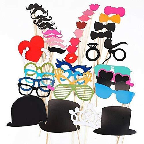 44 stks Grappige foto Booth Props Snor Masker voor Bruiloft Verjaardag Party Favors,