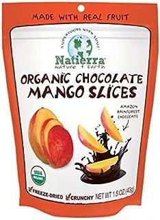 Natierra Nature's Organic Freeze-Dried Chocolate Covered Mango Slices | Gluten Free & Vegan | 1.5 Ounce