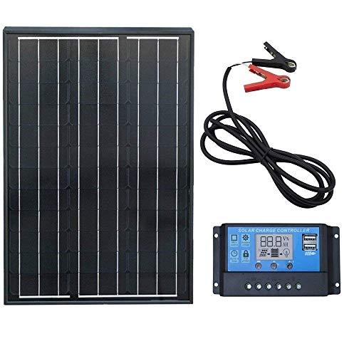 ECOWORTHY 60W 100W monokristallines Solarpanel-System zur Verwendung mit Wohnmobilen, Booten und anderen Outdoor-Geräten (60W Mono Solar Panel System)
