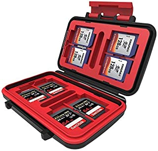 WON World of Needs 24 Slots Memory Card Case for CF/MicroSD/SD Cards (Red)