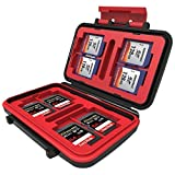 WON 24 Slots Memory Card Case for CF Cards (Red)