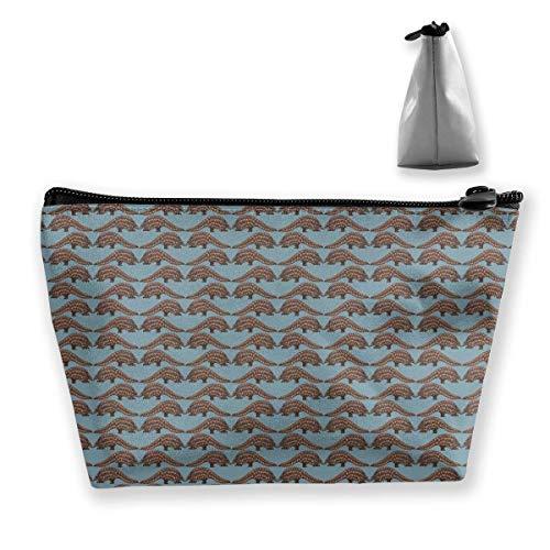 Tragbare, bunte mexikanische Decke, Streifen, Trapez-Aufbewahrungstasche, Kosmetiktasche, Make-up-Tasche, Reisetasche, Kulturbeutel mit Reißverschluss für Damen und Mädchen